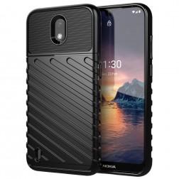 """""""Twill"""" cieta silikona (TPU) apvalks - melns (Nokia 1.3)"""