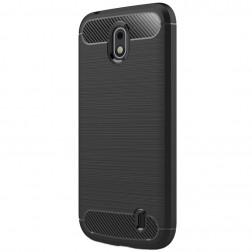 """""""Carbon"""" cieta silikona (TPU) apvalks - melns (Nokia 1)"""