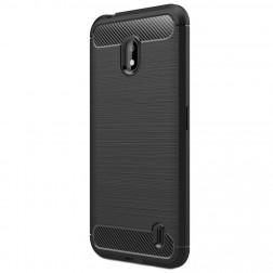 """""""Carbon"""" cieta silikona (TPU) apvalks - melns (Nokia 2.2)"""