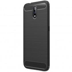 """""""Carbon"""" cieta silikona (TPU) apvalks - melns (Nokia 2.3)"""