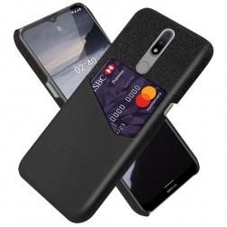 """""""KSQ"""" Shell ādas apvalks - melns (Nokia 2.4)"""