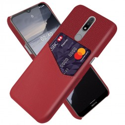 """""""KSQ"""" Shell ādas apvalks - sarkans (Nokia 2.4)"""