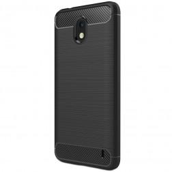 """""""Carbon"""" cieta silikona (TPU) apvalks - melns (Nokia 2)"""