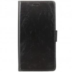 Atvēramais maciņš, grāmata - melns (Nokia 3.1 Plus 2018)