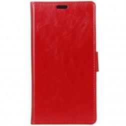 Atvēramais maciņš, grāmata - sarkans (Nokia 3.1 Plus 2018)