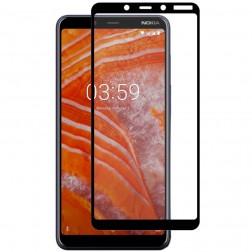 """Hat-Prince"" Tempered Glass ekrāna aizsargstikls 0.26 mm - melns (Nokia 3.1 Plus 2018)"