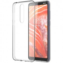 Cieta silikona (TPU) apvalks - dzidrs (Nokia 3.1 Plus 2018)
