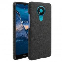 """Bi-Color"" Splicing ādas apvalks - melns (Nokia 3.4)"