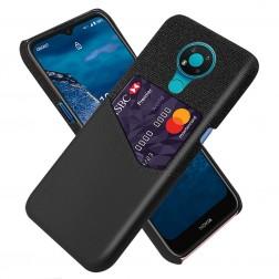 """""""KSQ"""" Shell ādas apvalks - melns (Nokia 3.4)"""