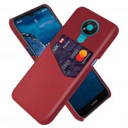 """""""KSQ"""" Shell ādas apvalks - sarkans (Nokia 3.4)"""