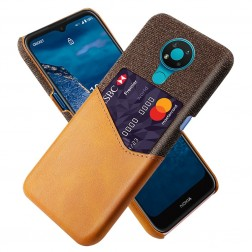 """KSQ"" Shell ādas apvalks - brūns (Nokia 3.4)"