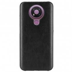 Soft Slim ādas apvalks - melns (Nokia 3.4)