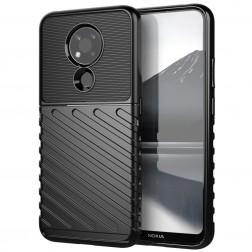 """""""Twill"""" cieta silikona (TPU) apvalks - melns (Nokia 3.4)"""