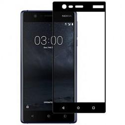 """""""Imak"""" Tempered Glass pilnīgi aizsedzams ekrāna aizsargstikls 0.2 mm - melns (Nokia 3)"""