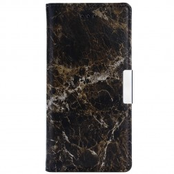 """""""Marble"""" atvēramais ādas maciņš - brūns (Nokia 3)"""