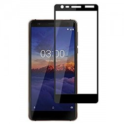 """""""Imak"""" Tempered Glass pilnīgi aizsedzams ekrāna aizsargstikls 0.2 mm - melns (Nokia 3.1 2018)"""