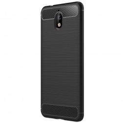 """""""Carbon"""" cieta silikona (TPU) apvalks - melns (Nokia 3.1 2018)"""
