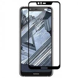 """""""Imak"""" Tempered Glass pilnīgi aizsedzams ekrāna aizsargstikls 0.2 mm - melns (Nokia 5.1 Plus 2018)"""