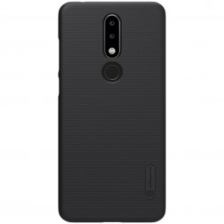"""Nillkin"" Frosted Shield apvalks - melns + ekrāna aizsargplēve (Nokia 5.1 Plus 2018)"