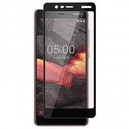"""""""Rurihai"""" Tempered Glass pilnīgi aizsedzams ekrāna aizsargstikls 0.2 mm - melns (Nokia 5.1 2018)"""