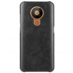Slim Leather ādas apvalks - melns (Nokia 5.3)
