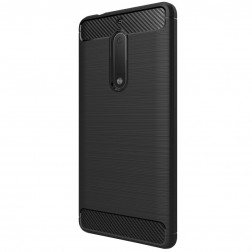 """""""Carbon"""" cieta silikona (TPU) apvalks - melns (Nokia 5)"""