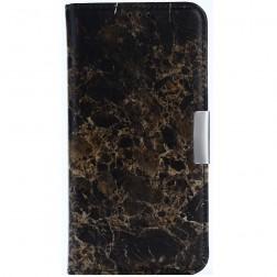 """""""Marble"""" atvēramais ādas maciņš - brūns (Nokia 5)"""