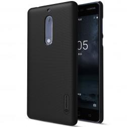 """Nillkin"" Frosted Shield apvalks - melns + ekrāna aizsargplēve (Nokia 5)"