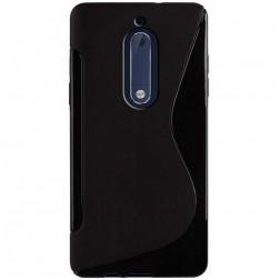 """S-Line"" cieta silikona (TPU) apvalks - melns (Nokia 5)"