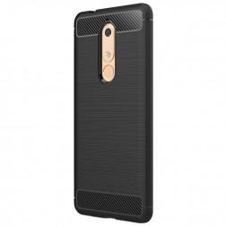 """""""Carbon"""" cieta silikona (TPU) apvalks - melns (Nokia 5.1 2018)"""