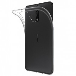 Cieta silikona (TPU) apvalks - dzidrs (Nokia 5.1 2018)