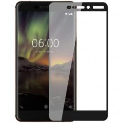 """""""Imak"""" Tempered Glass pilnīgi aizsedzams ekrāna aizsargstikls 0.2 mm - melns (Nokia 6 2018)"""