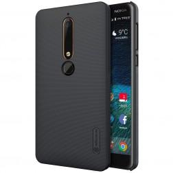 """Nillkin"" Frosted Shield apvalks - melns (Nokia 6 2018 / Nokia 6.1)"