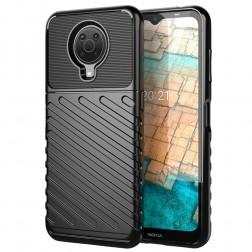 """""""Twill"""" cieta silikona (TPU) apvalks - melns (Nokia 6.3 / G10 / G20)"""