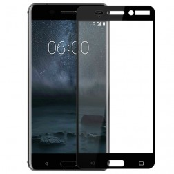 """""""Calans"""" Tempered Glass pilnīgi aizsedzams ekrāna aizsargstikls 0.2 mm - melns (Nokia 6)"""