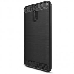 """""""Carbon"""" cieta silikona (TPU) apvalks - melns (Nokia 6)"""