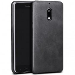 """""""X-Level"""" Vintage ādas apvalks - melns (Nokia 6)"""