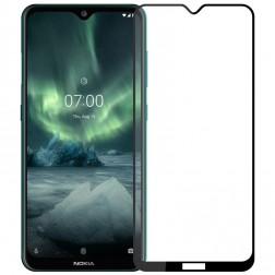 """""""Hat-Prince"""" Tempered Glass ekrāna aizsargstikls 0.26 mm - melns (Nokia 7.2 / Nokia 6.2)"""