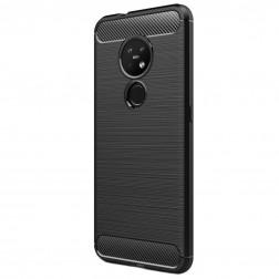 """""""Carbon"""" cieta silikona (TPU) apvalks - melns (Nokia 7.2 / Nokia 6.2)"""