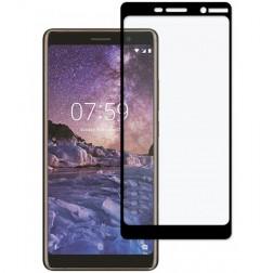 """""""Imak"""" Tempered Glass ekrāna aizsargstikls 0.26 mm - melns (Nokia 7 Plus)"""
