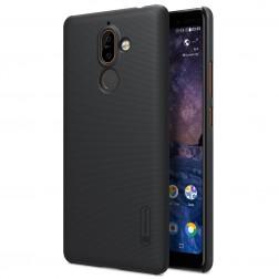 """Nillkin"" Frosted Shield apvalks - melns (Nokia 7 Plus)"