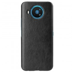 Soft Slim ādas apvalks - melns (Nokia 8.3)