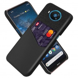 """""""KSQ"""" Shell ādas apvalks - melns (Nokia 8.3)"""