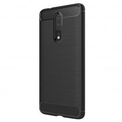 """""""Carbon"""" cieta silikona (TPU) apvalks - melns (Nokia 8)"""