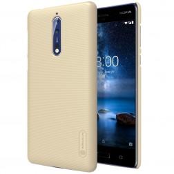 """Nillkin"" Frosted Shield apvalks - zelta + ekrāna aizsargplēve (Nokia 8)"