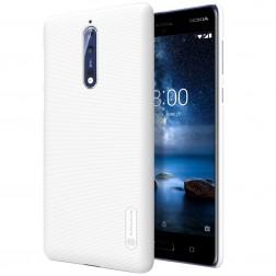"""Nillkin"" Frosted Shield apvalks - balts + ekrāna aizsargplēve (Nokia 8)"