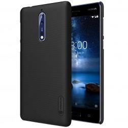 """Nillkin"" Frosted Shield apvalks - melns + ekrāna aizsargplēve (Nokia 8)"
