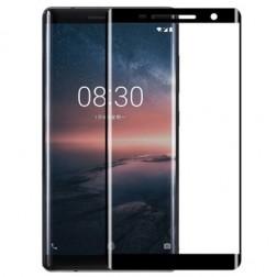 """""""Calans"""" Tempered Glass pilnīgi aizsedzams ekrāna aizsargstikls 0.2 mm - melns (Nokia 8 Sirocco)"""