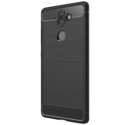 """""""Carbon"""" cieta silikona (TPU) apvalks - melns (Nokia 8 Sirocco)"""