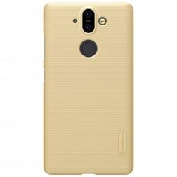 """Nillkin"" Frosted Shield futrālis - zelta + ekrāna aizsargplēve (Nokia 8 Sirocco)"